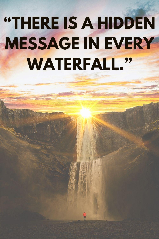 Waterfalls Captions for Instagram