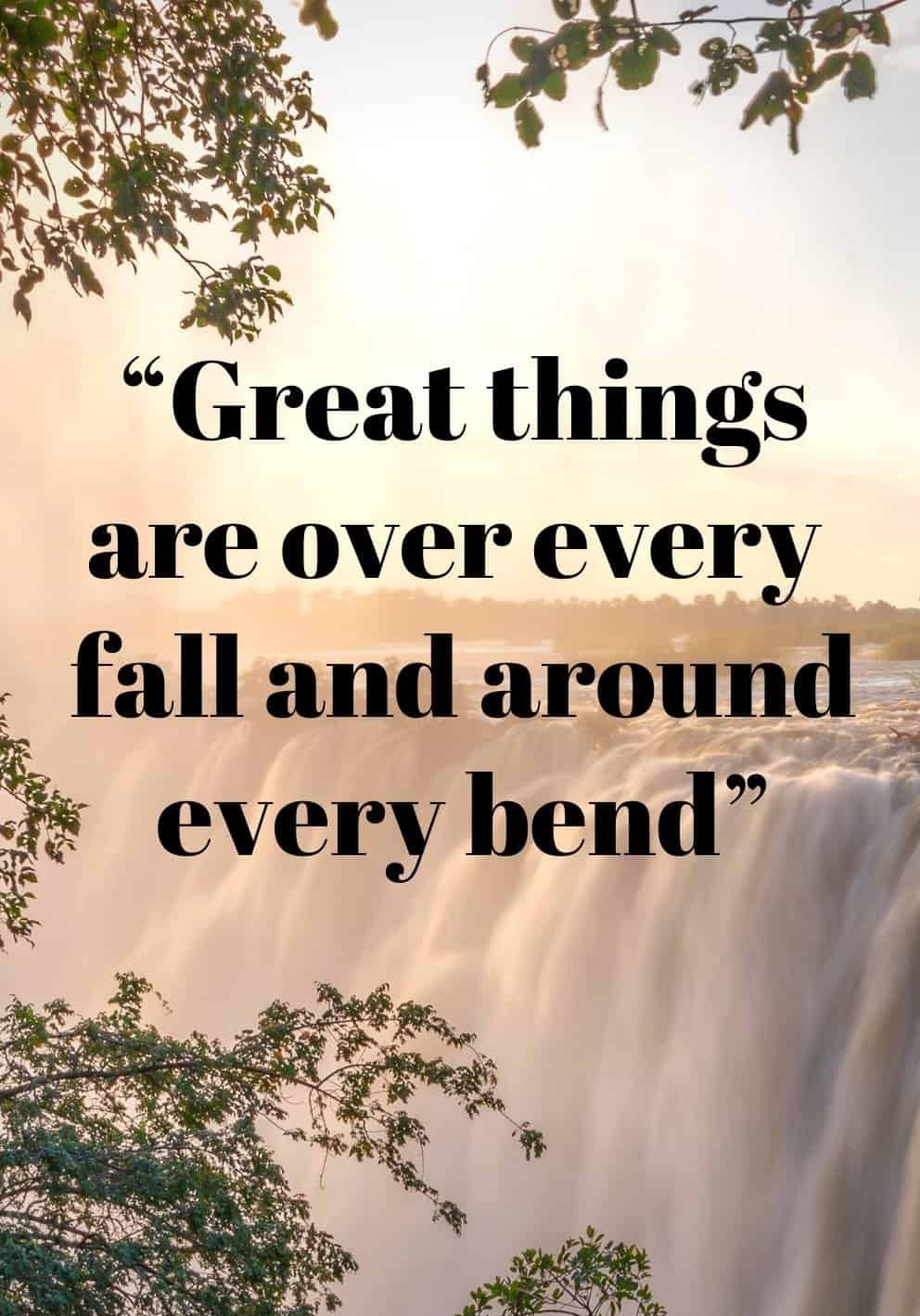 Best Waterfall Quote