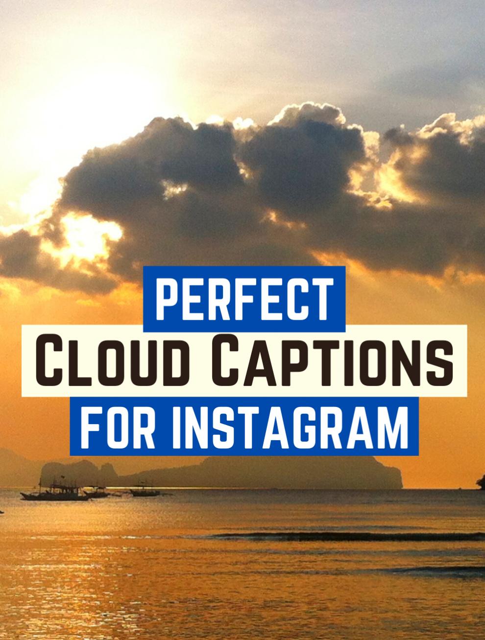 Best Sky & Cloud Captions