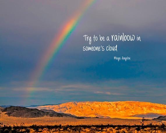 Inspirational rainbow quote image
