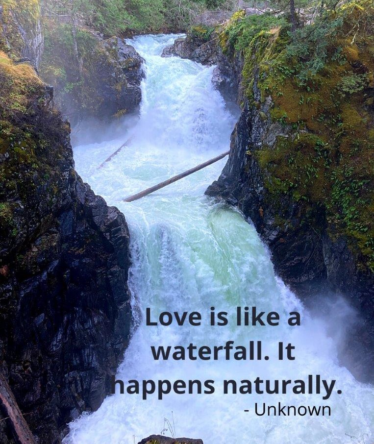 Waterfall Instagram Captions for Love